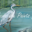 "Great Blue Heron – 24""w by 18""h print"